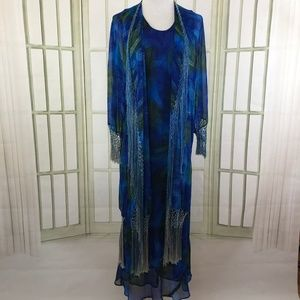 Stevie Nicks Style Chiffon Maxi Dress and Jacket